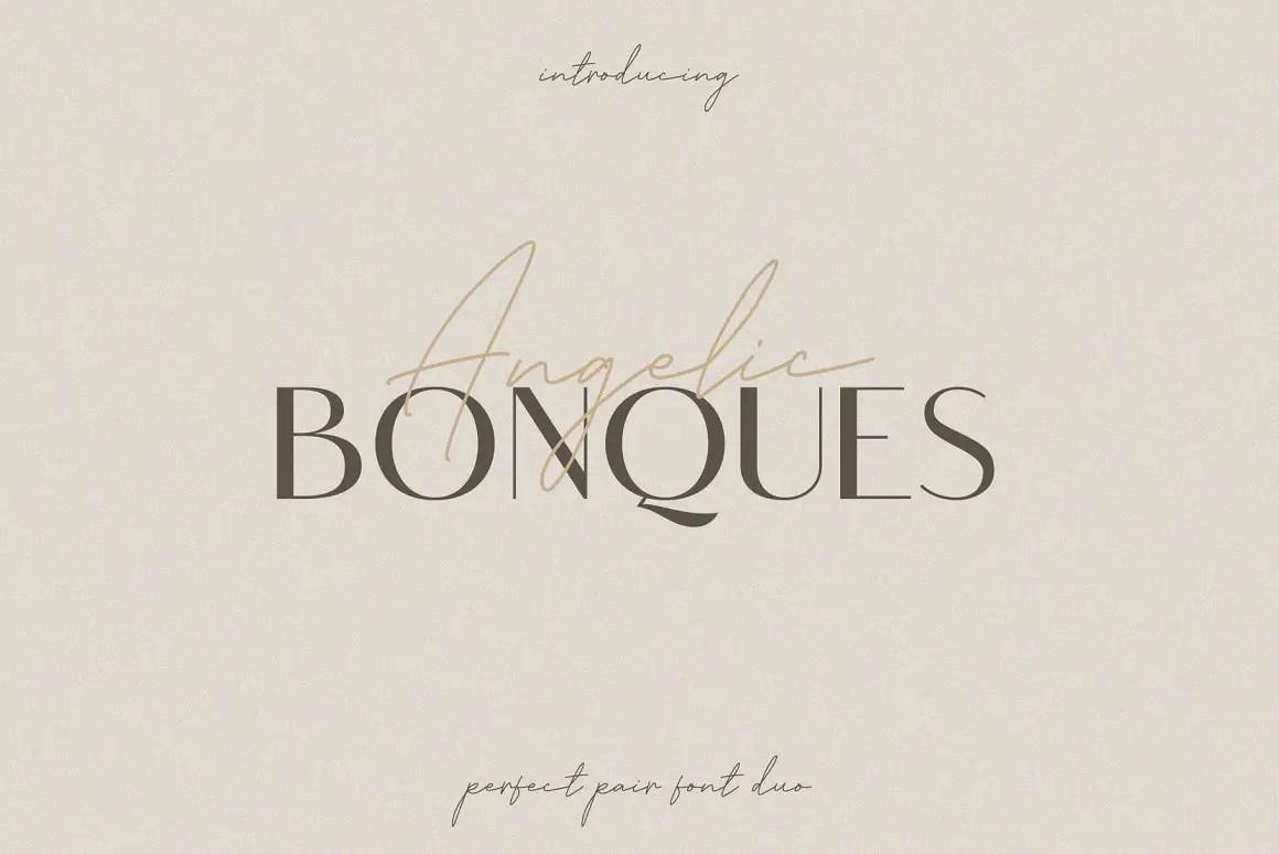 Angelic Bonques Sans Serif Font Duo-1