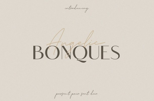 Angelic Bonques Sans Serif Font Duo