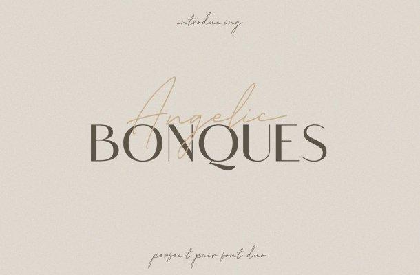 Angelic Bonques Sans Serif Font Duo