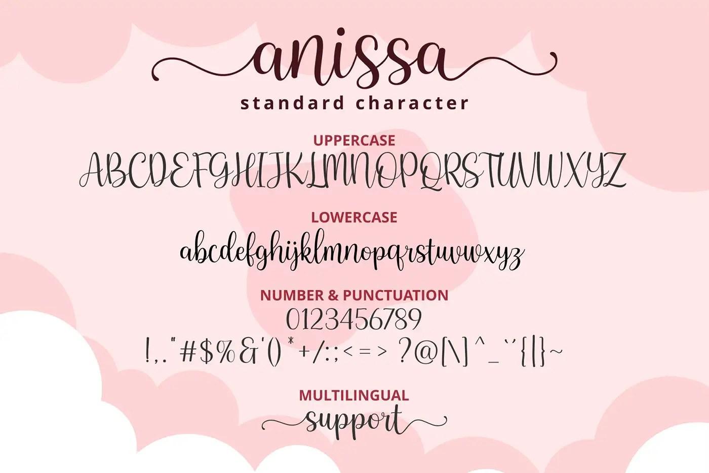 Anissa Lovely Modern Calligraphy Script Font-3