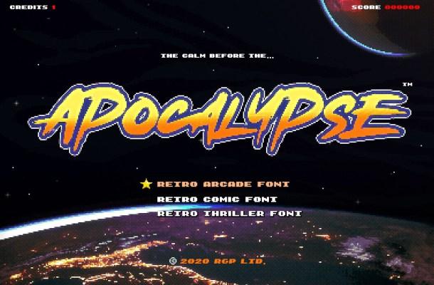 Apocalypse Retro Action Font