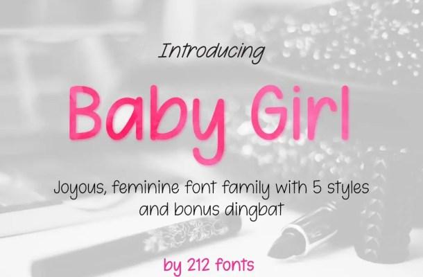 Baby Girl Handwritten Font