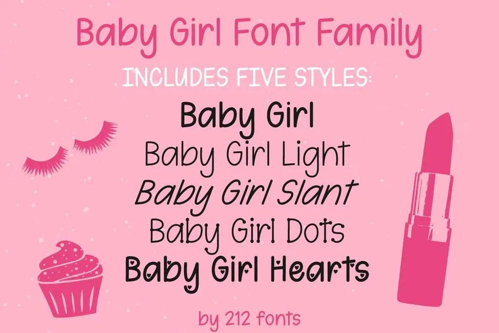 Baby Girl Handwritten Font-3