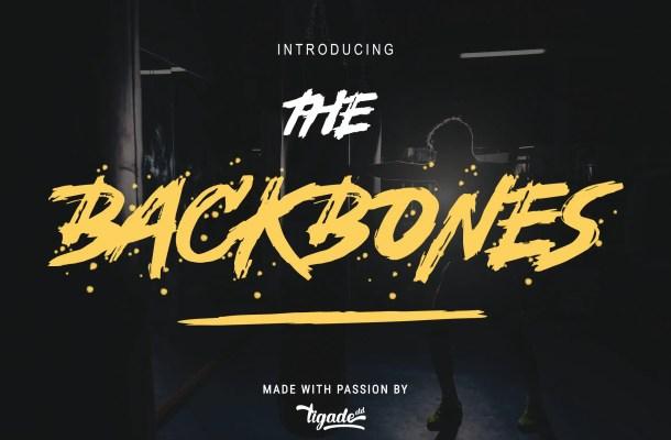 Backbones Brush Script Font