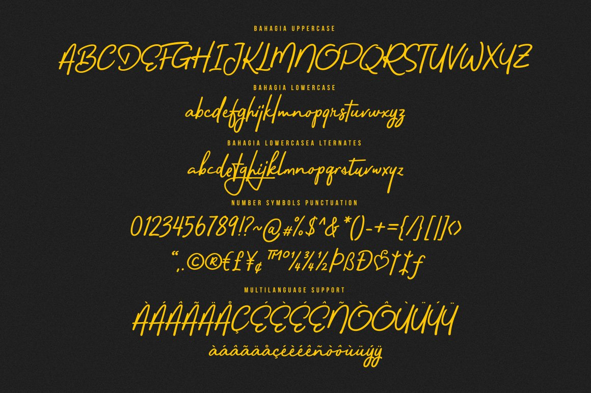 Bahagia Handwritten Typeface-3