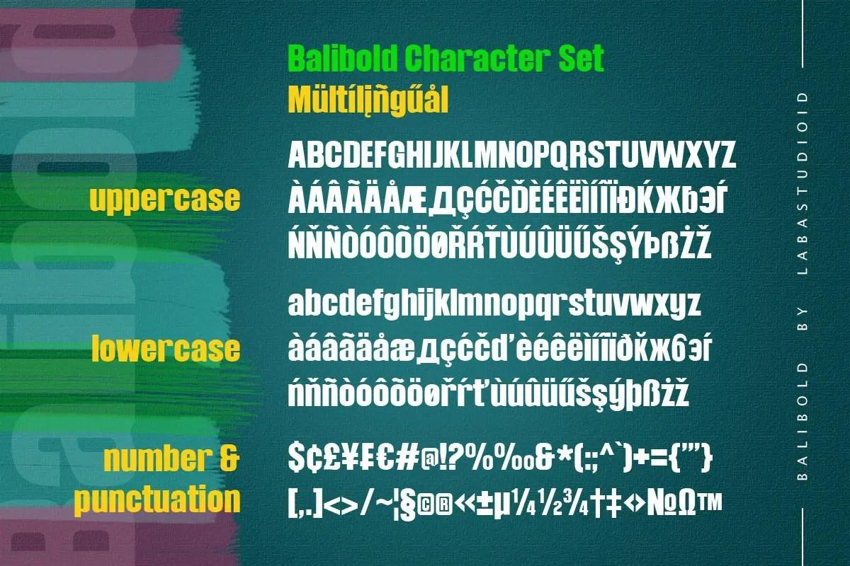 Balibold Sans Serif Typeface-3