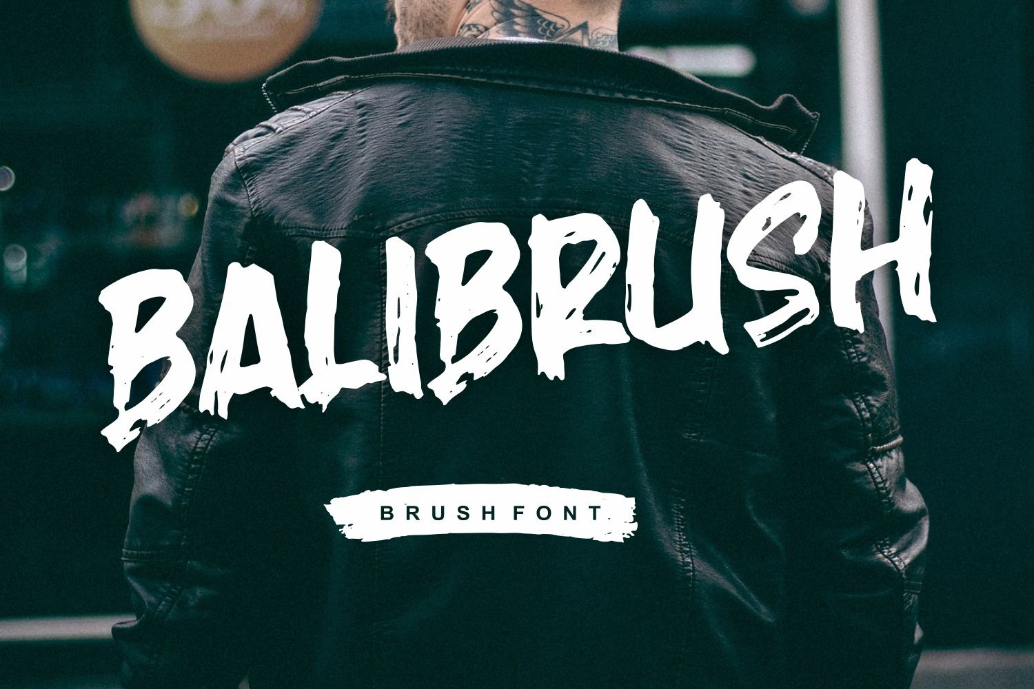 Balibrush Rough Brush Font-1