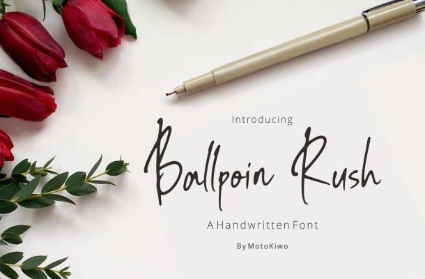 Ballpoin Rush Handwritten Script Font