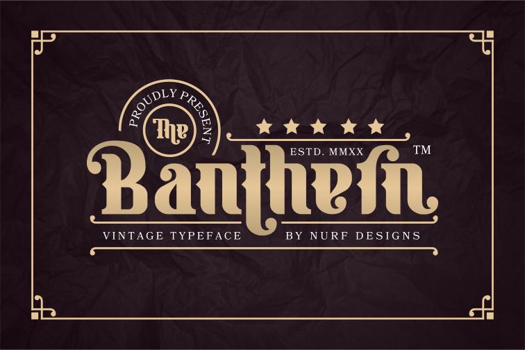 Banthern Display Font-1