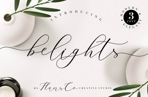 Belights Calligraphy Font