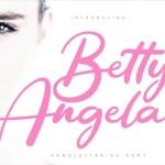 Betty Angel Script Font