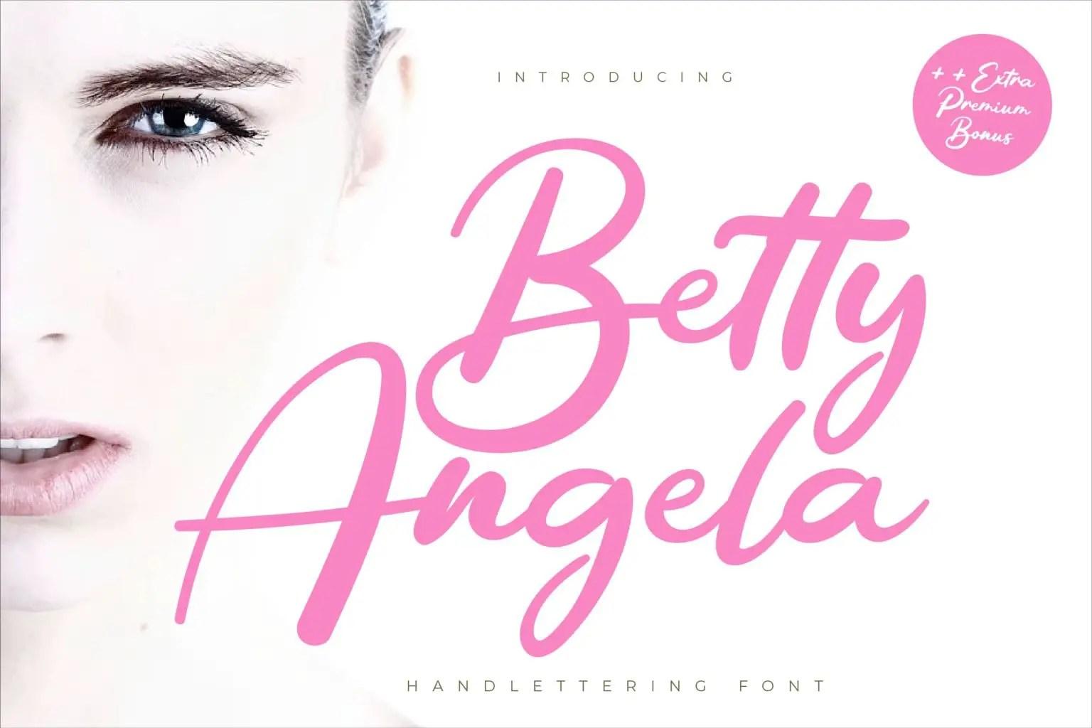 Betty Angel Script Font-1