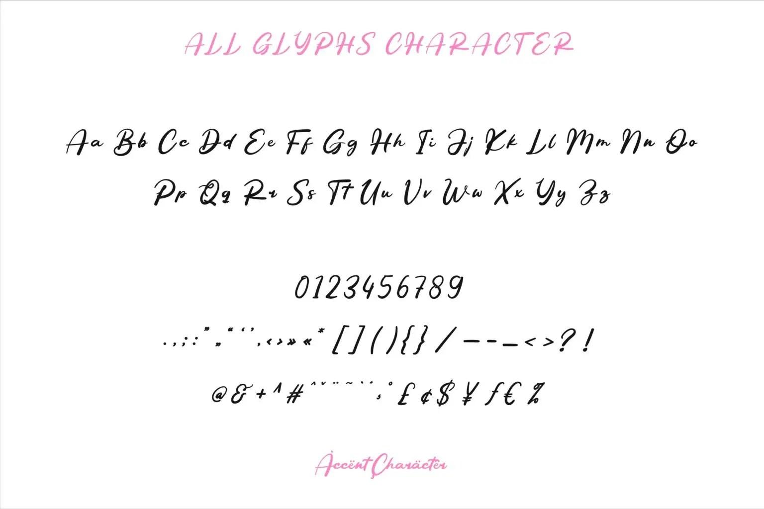 Betty Angel Script Font-3