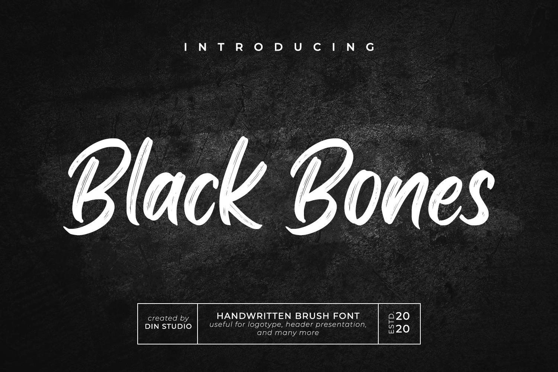 Black Bones Brush Script Font-1