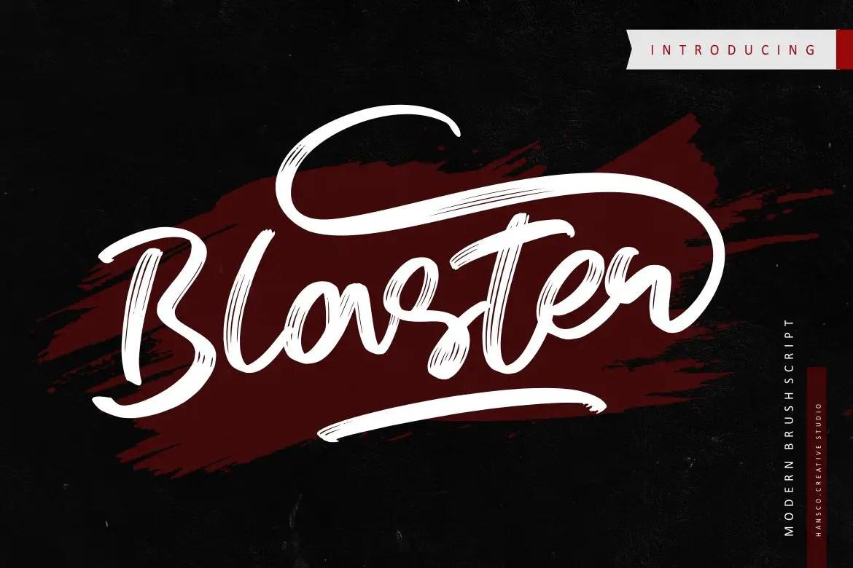 Blaster Script Handwritten Font-1
