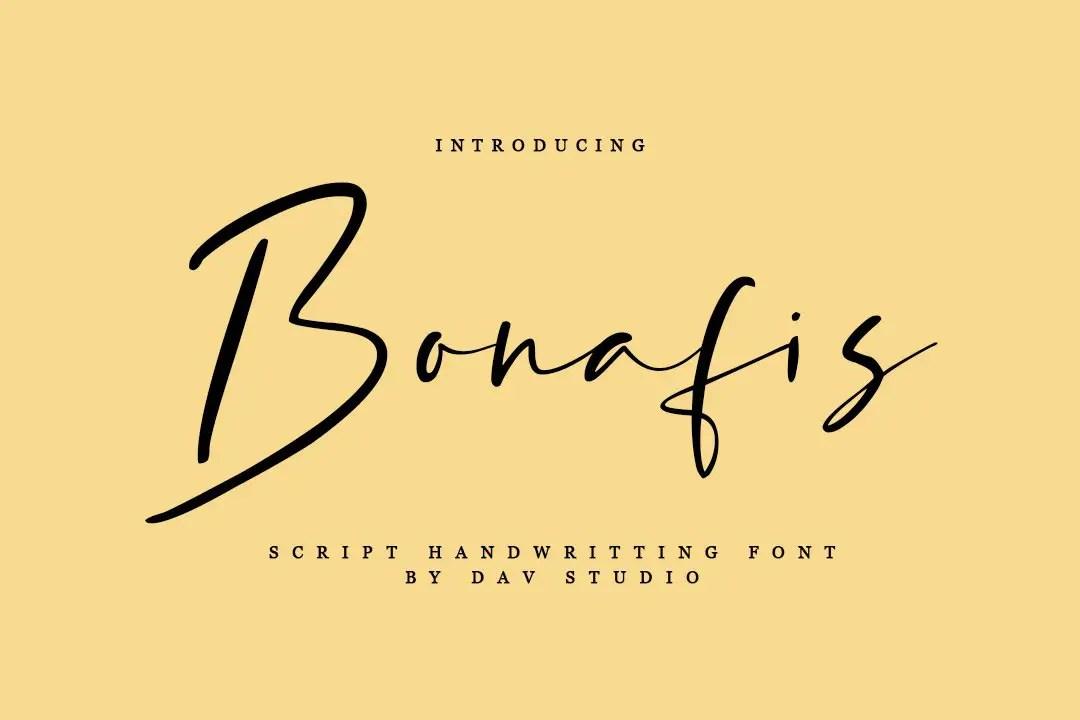 Bonafis Handwritten Script Font-1