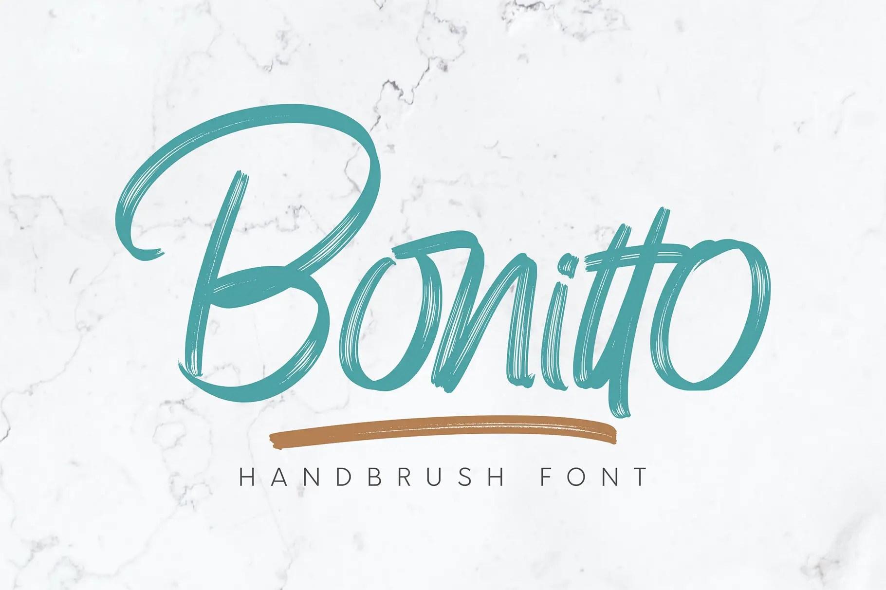 Bonitto Brush Script Font-1