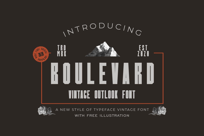Boulevard Display Font-1