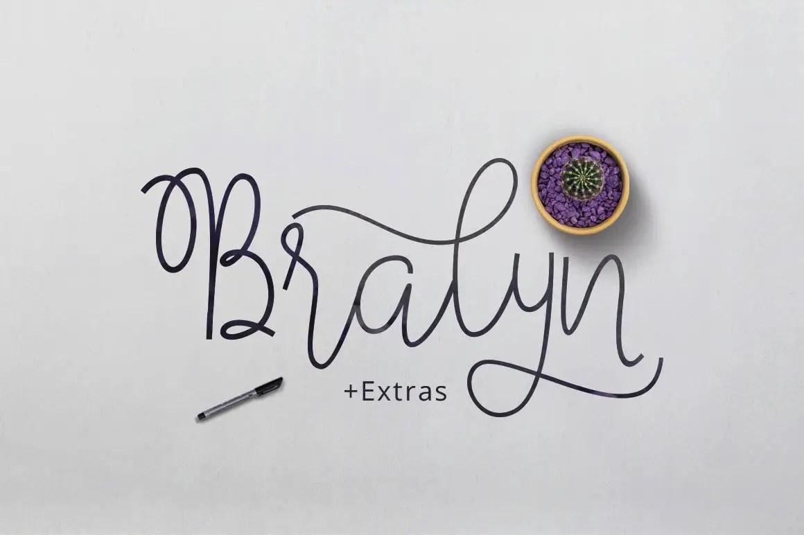 Bralyn Calligraphy Script Fonts-1