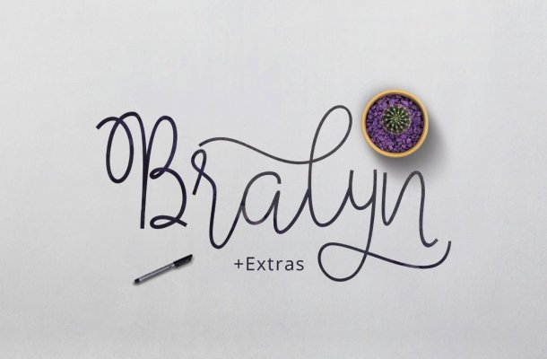 Bralyn Calligraphy Script Fonts