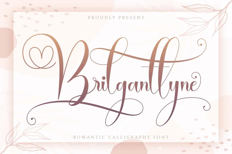 Brilganttyne Calligraphy Script Font-1