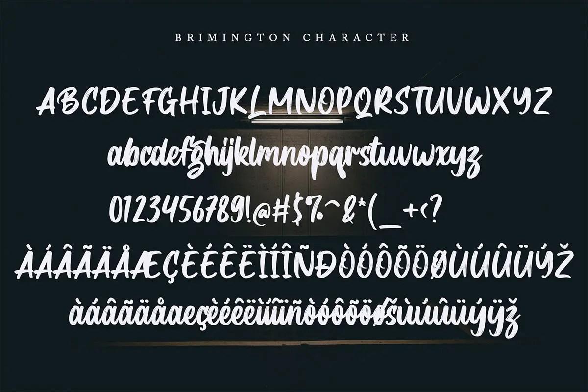 Brimington Handbrush Font-3