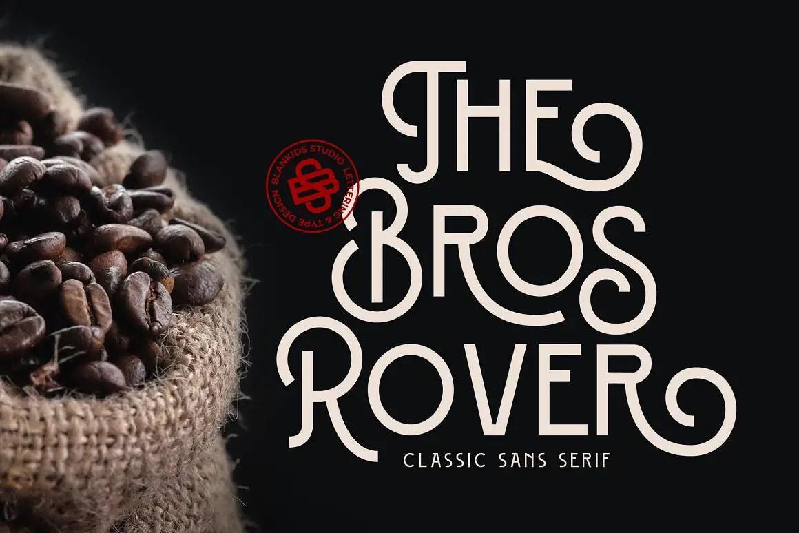 Bros Rover Classic Sans Serif Font-1