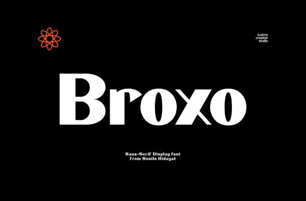 Broxo Stylish Sans Serif Font