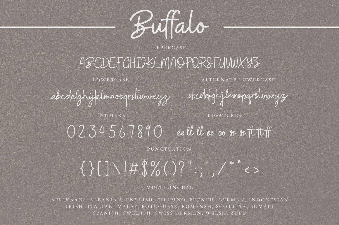 Buffalo Handwritten Font-3