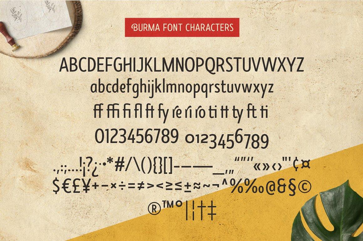 Burma Sans Serif Font Family-3