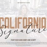 California Signature Sans Serif Font Duo