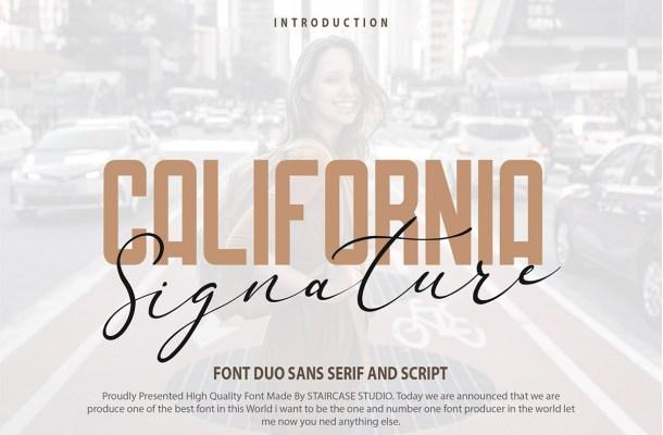California Signature Sans Serif Font Duo