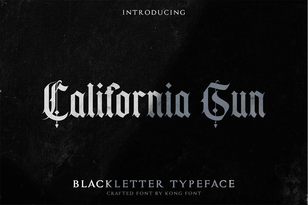 California sun Blackletter Font-1