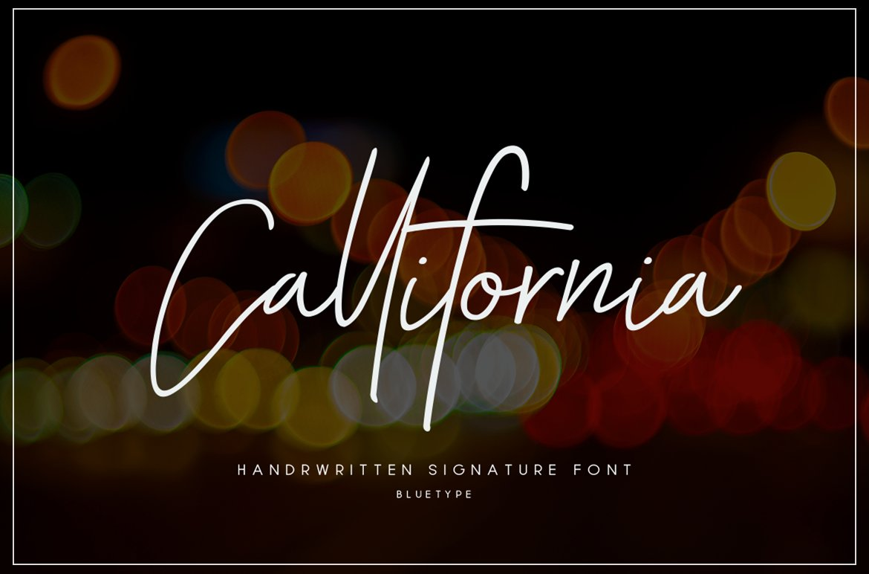 Callifornia Handwritten Signature Font-1