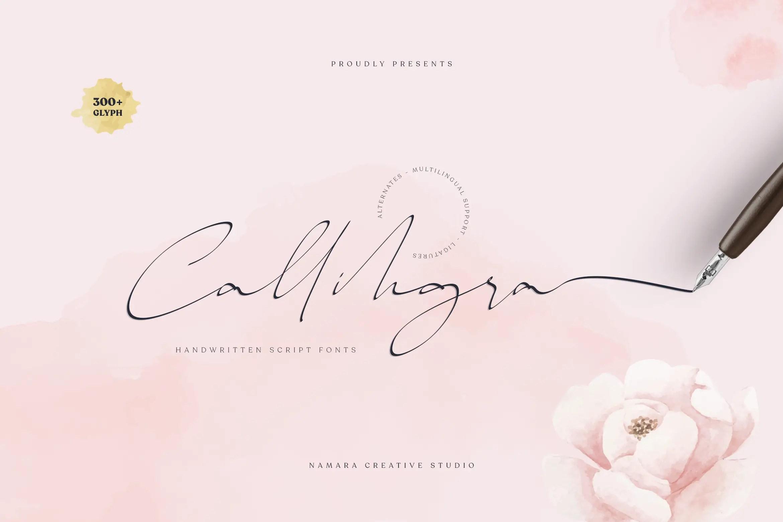 Callihgra Handwritten Script Font-1