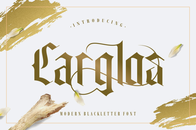Carglos Blackletter Font-1