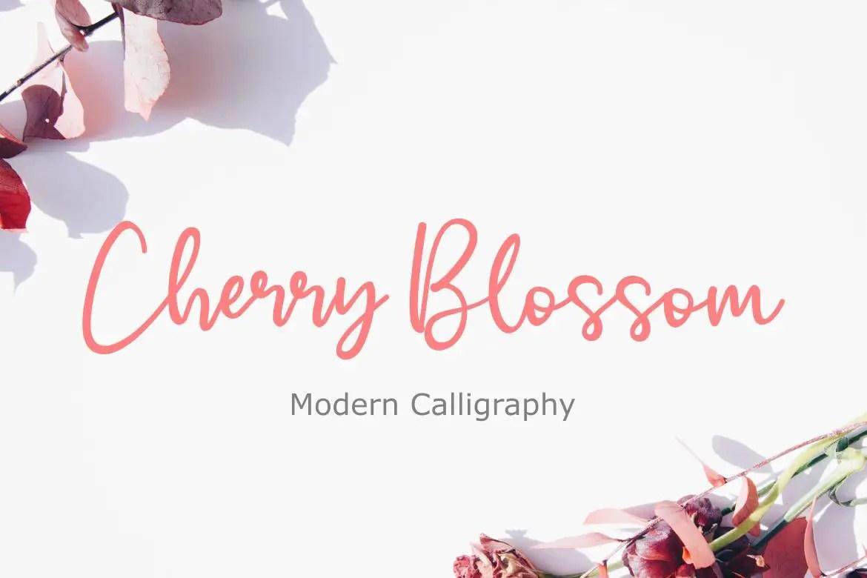 Cherry Blossom Handwritten Script Font-1
