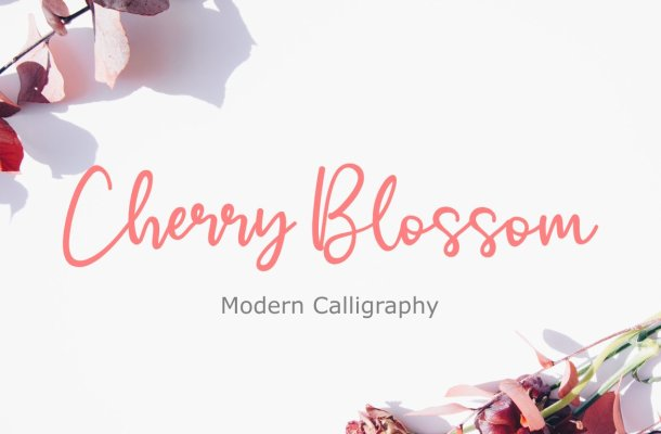 Cherry Blossom Handwritten Script Font