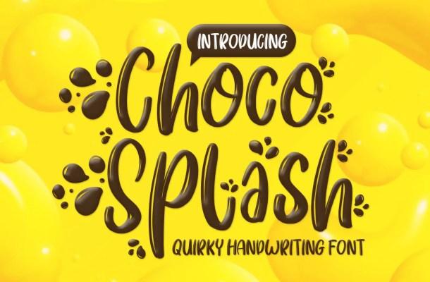Choco Splash Script Font