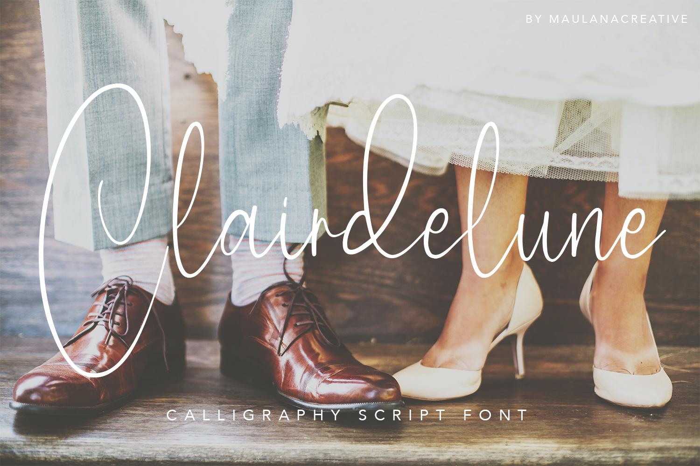 Clairdelune Calligraphy Modern Script Font-1