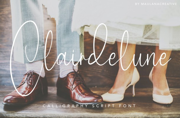 Clairdelune Calligraphy Modern Script Font