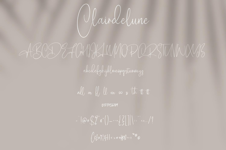 Clairdelune Calligraphy Modern Script Font-3