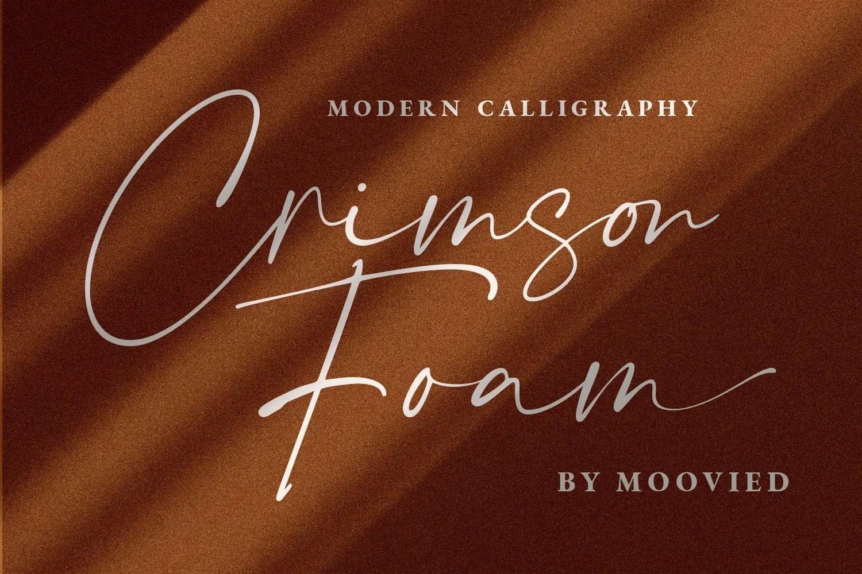 Crimson Foam Calligraphy Script Font-1