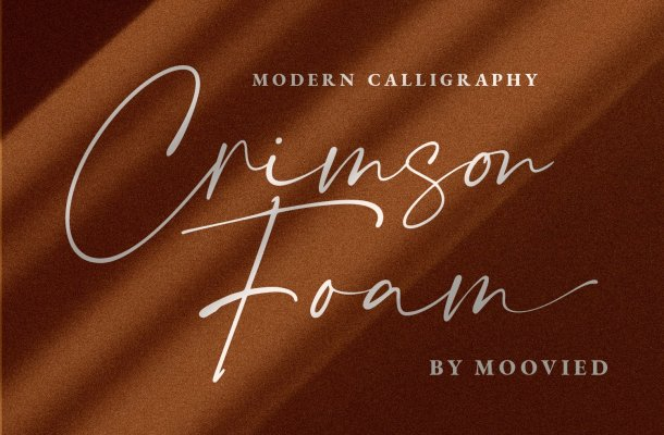Crimson Foam Calligraphy Script Font