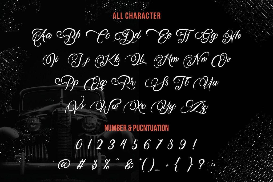 Daisuky Fancy Tatto Script Font-3