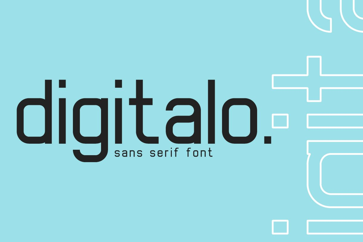 Digitalo Sans Serif Font-1