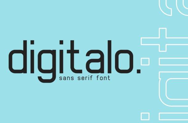 Digitalo Sans Serif Font