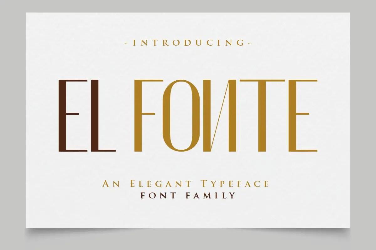 El Fonte Sans Serif Elegant Typeface-1