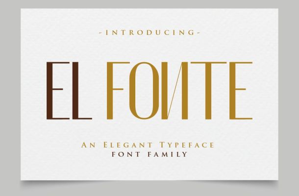 El Fonte Sans Serif Elegant Typeface
