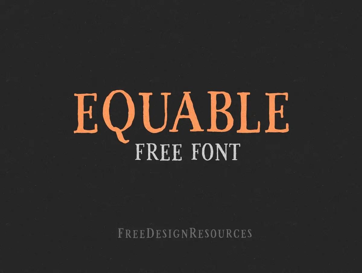 Equable Free Retro Font-1